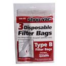 Shop Vac 3 pack Filter Bags Type B